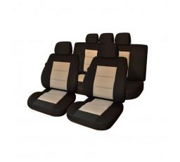 Set huse scaun Premium Lux Negru-Bej