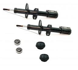 Set amortizoare fata Dacia Logan / Sandero + 2x kit prindere amortizor origine Dacia-Renault  6001550751 | 6001547499 | 8200651172