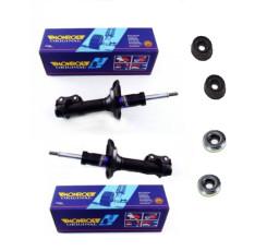Set amortizoare fata Monroe Dacia Logan / Sandero + 2x kit prindere amortizor origine Dacia-Renault MG7203 | 6001547499 | 8200651172